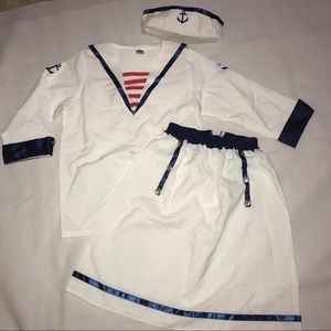 Women's Sailor Navy Outfit Halloween Costume Lg